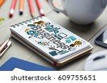 composite image of business... | Shutterstock . vector #609755651