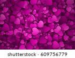 abstract 3d hearts vector...   Shutterstock .eps vector #609756779