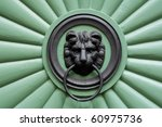 Historic Green Door With...