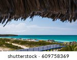 walk way to playa pilar  one of ... | Shutterstock . vector #609758369