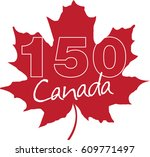 maple leaf   canada day 150... | Shutterstock .eps vector #609771497