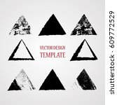 stamps collection. grunge... | Shutterstock .eps vector #609772529