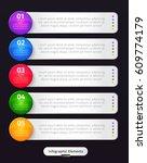 vector infographic elements.... | Shutterstock .eps vector #609774179