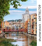 historical jewish quarter in... | Shutterstock . vector #609781709