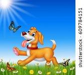 Cartoon Dog With Nature...