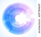 geometric frame  vector... | Shutterstock .eps vector #609784649