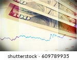 financial documents used for... | Shutterstock . vector #609789935