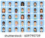 avatars characters of flat... | Shutterstock .eps vector #609790739