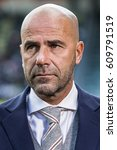 Small photo of NETHERLANDS, DEN HAAG - 16th Oct 2016: at the Kyocera Stadium Ajax coach trainer manager Peter Bosz