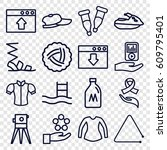 drawn icons set. set of 16... | Shutterstock .eps vector #609795401