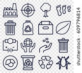 environment icons set. set of... | Shutterstock .eps vector #609796814