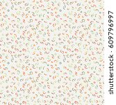 seamless pattern of abstract...   Shutterstock . vector #609796997