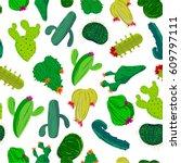 desert plant background | Shutterstock .eps vector #609797111