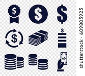 income icons set. set of 9... | Shutterstock .eps vector #609805925
