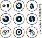 cd icons set. set of 9 cd...   Shutterstock .eps vector #609808874