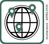 global location icon | Shutterstock .eps vector #609811934