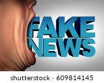 fake news communication concept ... | Shutterstock . vector #609814145