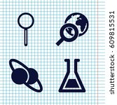 set of 4 discovery filled icons ... | Shutterstock .eps vector #609815531