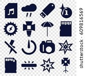 flash icons set. set of 16... | Shutterstock .eps vector #609816569