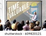 time chance valuable duration... | Shutterstock . vector #609820121