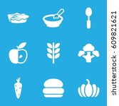 nutrition icons set. set of 9... | Shutterstock .eps vector #609821621