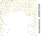 gold glitter background polka... | Shutterstock .eps vector #609825569