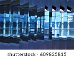 mirror wall | Shutterstock . vector #609825815