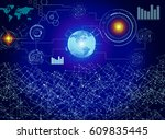 concept of smart world of... | Shutterstock . vector #609835445