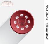 mail computer  vector... | Shutterstock .eps vector #609841937