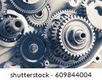 engine gear wheels  industrial... | Shutterstock . vector #609844004