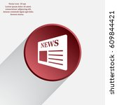 flat icon of news   Shutterstock .eps vector #609844421