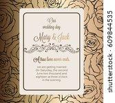 antique baroque luxury wedding... | Shutterstock .eps vector #609844535