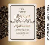 antique baroque luxury wedding... | Shutterstock .eps vector #609844589