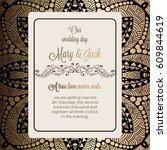 antique baroque luxury wedding... | Shutterstock .eps vector #609844619