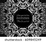 luxury ornament  lace in... | Shutterstock .eps vector #609845249