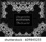 luxury ornament  lace in... | Shutterstock .eps vector #609845255