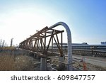 the pipe and valve oil fields  | Shutterstock . vector #609847757