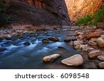the narrows at zion national... | Shutterstock . vector #6098548