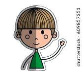 boy cartoon icon   Shutterstock .eps vector #609857351