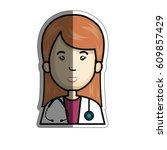 woman cartoon icon   Shutterstock .eps vector #609857429