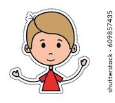 boy cartoon icon   Shutterstock .eps vector #609857435