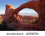 double o arch  arches national... | Shutterstock . vector #6098596