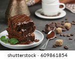 Homemade Brownies With Coffee...