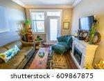 fragment of interior design of... | Shutterstock . vector #609867875