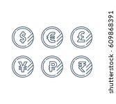 currency signs  money exchange  ... | Shutterstock .eps vector #609868391