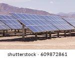 solar energy panels detail | Shutterstock . vector #609872861