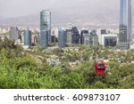cable car in santiago of chile. ... | Shutterstock . vector #609873107