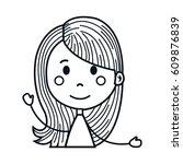 girl cartoon icon   Shutterstock .eps vector #609876839