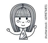 girl cartoon icon   Shutterstock .eps vector #609876851