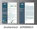 resume and cover letter...   Shutterstock .eps vector #609888824